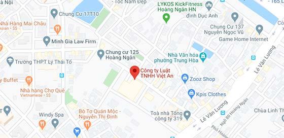 Map: Viet An Law Firm Hanoi