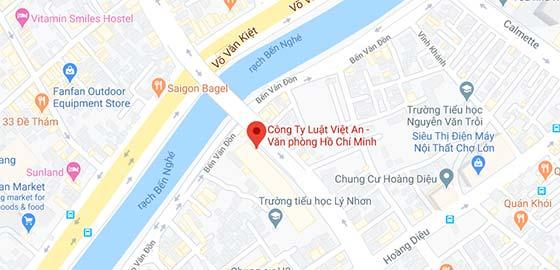 Map: Viet An Law Firm TP.HCM