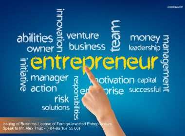 Issuing of Business License of Foreign-invested Entrepreneurs in Vietnam