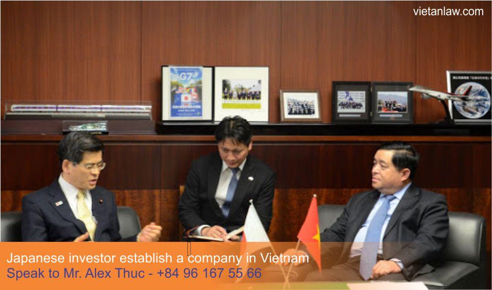 Japanese investor establish a company in Vietnam 1